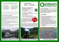 New brochures for Outdoors party