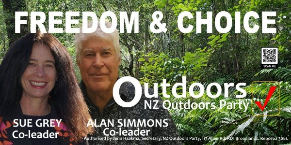 Freedom and choice. NZ Outdoors Party